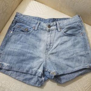 H&M Light Wash Denim Shorts Regular Rise